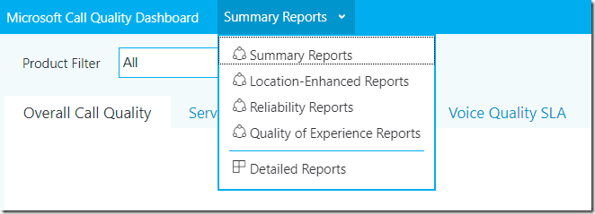 Quality of Experience reports added to Microsoft Call