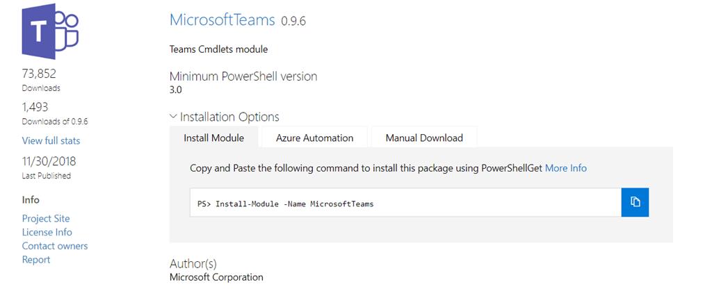 Microsoft Teams PowerShell Module 0 9 6 - Tom Talks