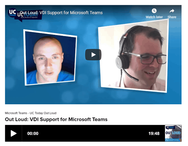 Microsoft Teams Out Loud Podcast June: Citrix Audio, Video and